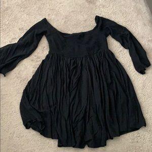 Black off the shoulders dress